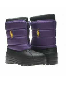 405 POLO RALPH LAUREN SNOW BOOTS  purple - TODDLER baby SIZE 9