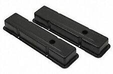 Mr. Gasket 9800BP Flat Black Valve Cover for Small Block Chevy, (Set of 2)