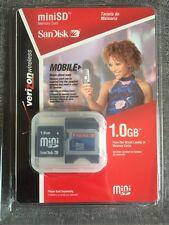 1GB Micro SD Memory Card Sandisk Mobile Ready Verizon Wireless ~ Brand New NIB