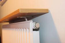 Radiator Shelf 750 x 150 x 18mm Oak MFC - Pair of White Brackets with Shelf UK