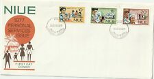 1977 Niue FDC cover Personal Services