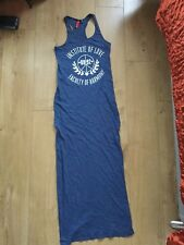 H&M DIVIDED Maxi Dress Size UK 8 Blue