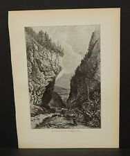 Picturesque Europe Italy Entrance to the Gasteren Thal Engraving 1885 !i4#24