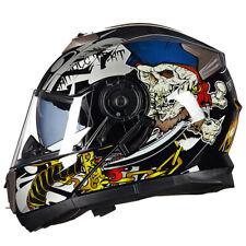 Refroidir Moto Casque Awesome Complet Visage Rue Vélo Moped Sportbike Flip à Men