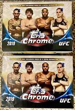 LOT(2): 2019 Topps Chrome UFC Blaster Box Sealed! Free Shipping Refractors Auto?