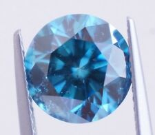 3.52 Carat Round Blue Natural Diamond Fancy Color Enhanced Si3 9.52mm ASAAR DEAL