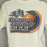 Vintage Orange County Track And Field T Shirt Sz M State Championship 1999 Mens