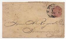 CSA Embossed Comm Merchants Cover Memphis Provisional 56X2 Sept 1, 1861 Ex Matz