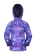 Mountain Warehouse Torrent Kids Rain Jacket Waterproof Boys Girls Cagoule Coat