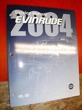 2004 EVINRUDE SR E TECH MODELS 40 50 FACTORY SERVICE MANUAL