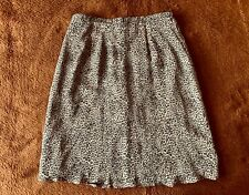 Allison Taylor A-Line Skirt 100% Silk Body and Lining Size  L