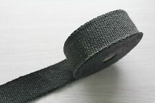 "BLACK 2"" x 0.5METER 50MM TURBO MANIFOLD HEAT EXHAUST THERMAL WRAP&PLASTIC TIES"