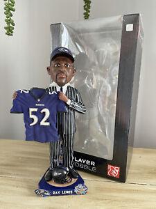RAY LEWIS Baltimore Ravens / Miami Hurricanes NFL Draft Day Bobblehead #/100 NIB