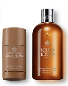 Molton Brown Classic Re-charge Black Pepper Gift Set Shower Gel 300ml & Deodrant