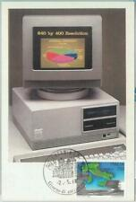 81214 - ITALY - Postal History - MAXIMUM CARD - TECNOLOGY computer OLIVETTI 1988