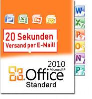 Microsoft Office 2010 Standard Key MS Office 2010 Standart Vollversion Deutsch