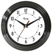 "25013 Equity by La Crosse 8"" Plastic Analog Wall Clock - Black"