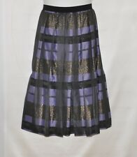 Joan Rivers Petite Glamorous Plaid Midi Skirt Size 1XP Purple