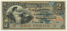 DOMINICAN REPUBLIC - 2 Pesos 1880's, PS104, UNC-aUNC. (CA003)