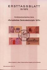 """BRD MiNr 860-863 ETB 15-75 """"Europäisches Denkmalschutzjahr 1975"""" -Bauwerke-"""