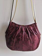 Judith Leiber Gorgeous Purple & Black Snakeskin Small Convertible Vintage Purse
