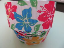 "Grosgrain Colourful Floral Flower Ribbon 1.5"" 40MM"