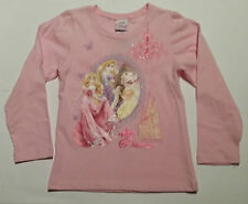 GIRLS*** DISNEY PRINCESS**COTTON SIZE 5 LONG SLEEVE PINK TOP