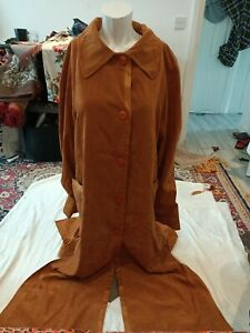 Vintage A. S. Creation Ladies Suede Long Jacket One Size fit chest up to 40Rins