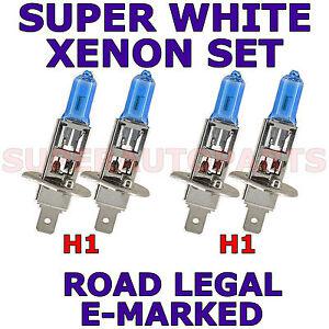 FITS VOLVO 850 SERIES 1992-1997 SET H1 SUPER WHITE XENON LIGHT BULBS