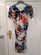 Floral ruched bodycon dress by JDC size 12. Brand New with tag. RRP £105.00
