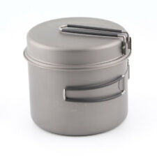 TOAKS Outdoor Camping Cookware Titanium Pot with Pan and Foldable Handles 1600ml