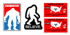 "Bigfoot Yeti Sasquatch Vinyl Decal Sticker Pack Lot of Four Stickers 4"" Long"