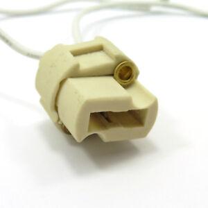 Ceramic Lamp Holder G9 Socket Cable Halogen Down Light Bulb LED Wire Cord