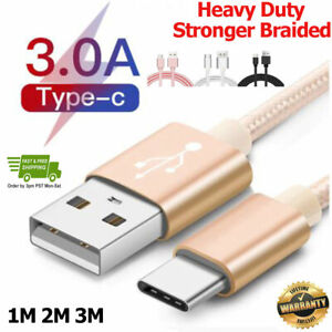 For Huawei P20 Lite Pro P10 P30 Type C USB-C Sync Charger Charging Cable Lead
