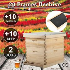 20-Frame Hive Frame/Bee Hive Frame/Beehive Frames w/ Metal Roof for Beekeeping