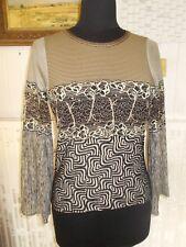 Tee shirt top manche longue évasé SAVE THE QUEEN T.M 36/38 stretch dos imprimé
