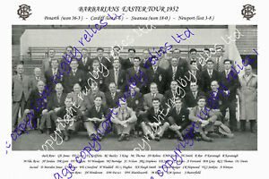 BARBARIANS RUGBY SQUAD PHOTOGRAPH 1952 (EASTER TOUR of WALES)