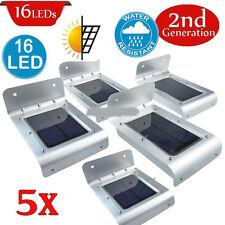 5x16 LED Solar Power Motion Sensor Garden Security Lamp Outdoor Waterproof Light