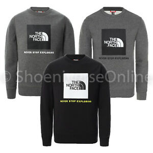 The North Face Youth Box Drew Peak Pullover Crew Neck Cotton Sweatshirt