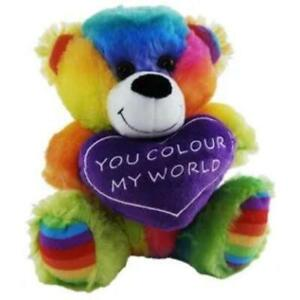 Rainbow Jelly Heart Plush 18cm