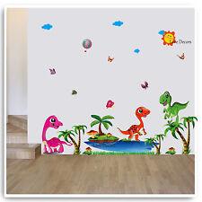 Dinosauri Wall Stickers jurrasic Animale Giungla Vivaio Decalcomania Camera Bambino Kids
