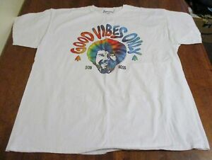 BOB ROSS Size 2XL Tee Shirt~Good Vibes Only~Tie Dye 100% Cotton EUC