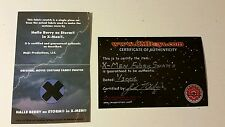 X-men Movie  prop STORM Costume Swatch Halle Berry with COA