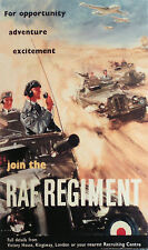 RAF Regiment Recruiting Poster 1950, 7x4 inches Reproduction