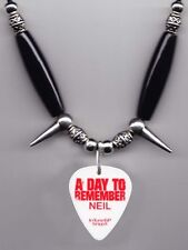 A Day To Remember Neil Westfall White Guitar Pick Necklace - 2011 Tour