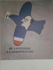 """""""DE LATECOERE A L'AEROPOSTALE"""" Affiche originale entoilée SAVIGNAC 1998 53x69cm"""