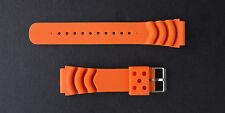 Sporty Orange Polyurethane 22mm Watch Strap fits Seiko 6309, 7002, SKX007, 7S26