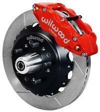 "WILWOOD DISC BRAKE KIT,FRONT,79-87 CHEVY,GMC,BUICK,OLDS,PONTIAC,13"",RED CALIPERS"