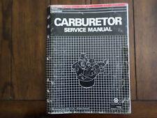 1989 Honda Carburetor Service Manual