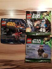 LEGO Star Wars Clone Trooper, Darth Revan, Han Solo 5001709 5002123 5001621 NEU